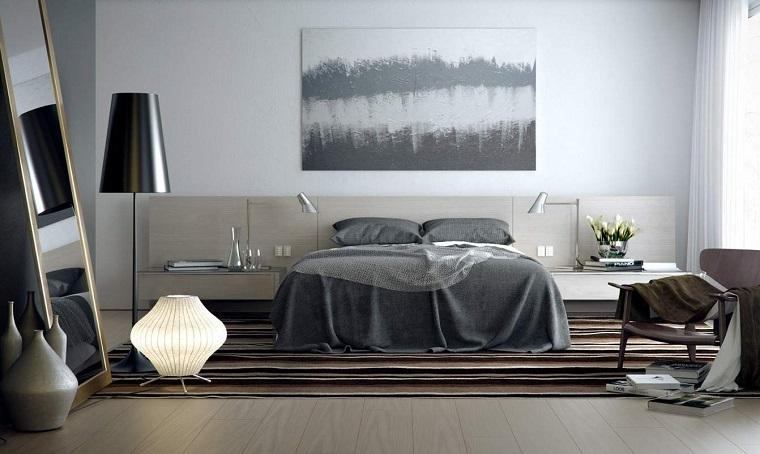 pareti grigie sfumature chiare arredo moderno