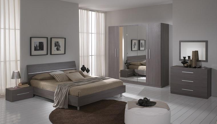 pareti grigie tonalita chiare stanza letto