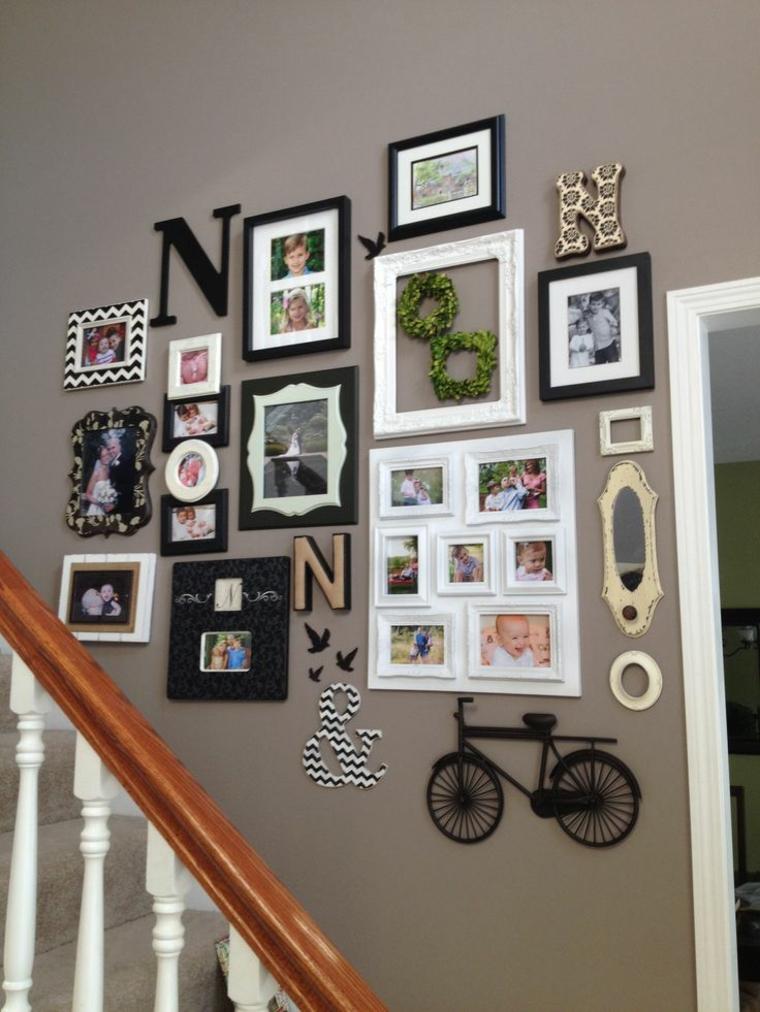 photo collage idea particolare vivace colorata parete