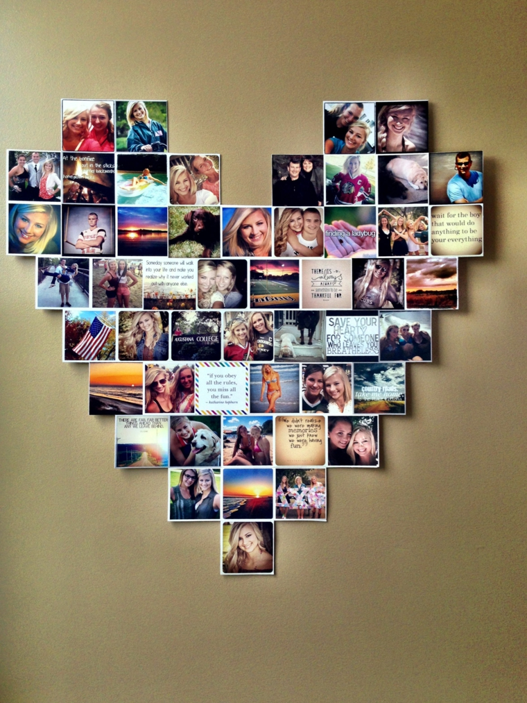 photo collage idea regalo particolare forma cuore