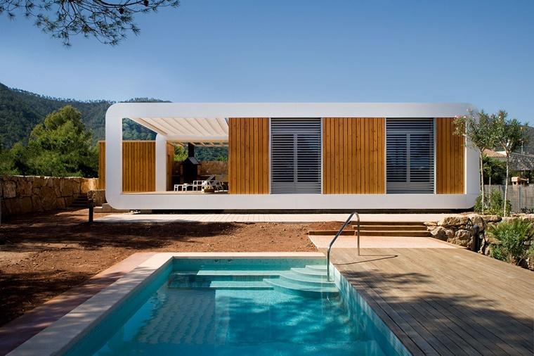 piscina esterna dimensioni piccole casa moderna