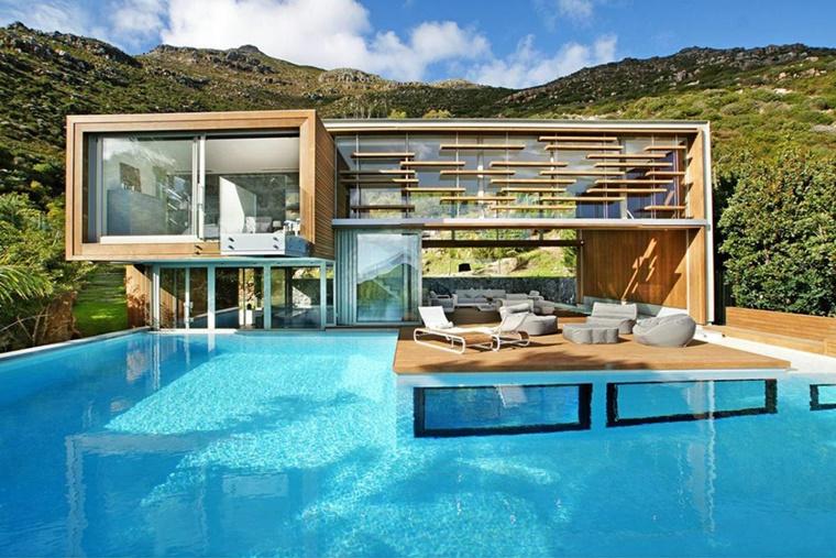 piscina esterna molto attraente casa architettura moderna