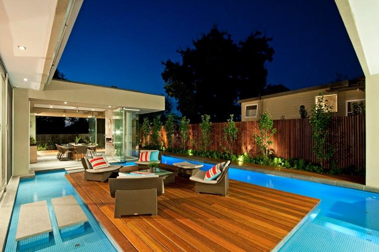 piscina moderna isola set giardino