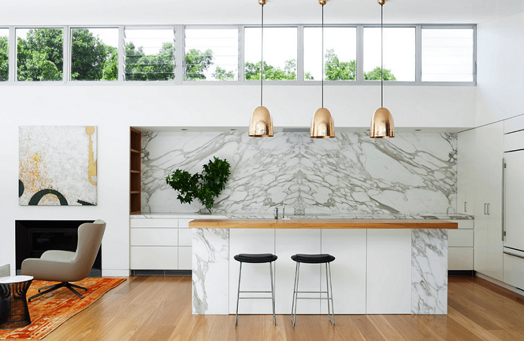 proposta cucina moderna design particolare colore bianco