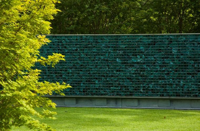 recinzione giardino gabbioni metallici idea molto originale