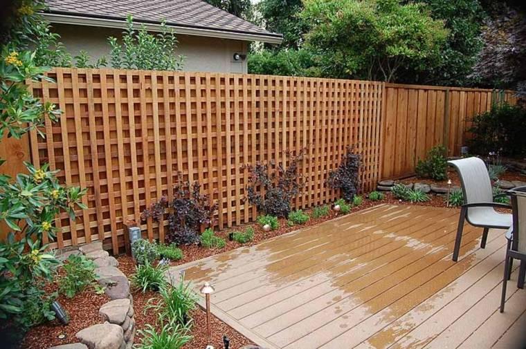 recinzione giardino idea decorativa legno