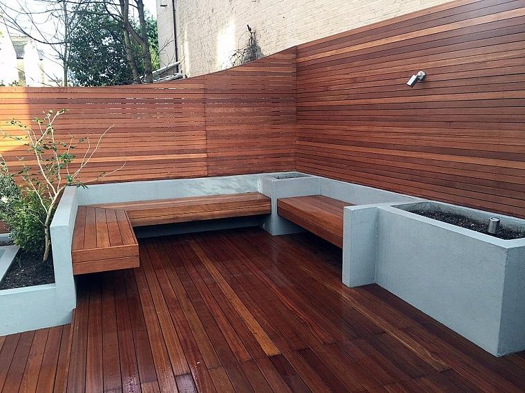 Panche In Muratura Per Esterni.Panchina Da Giardino In Muratura Panchina Da Giardino Di Fronte A