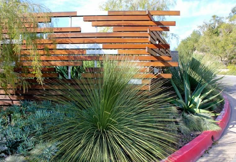 recinzione giardino stile moderno legno
