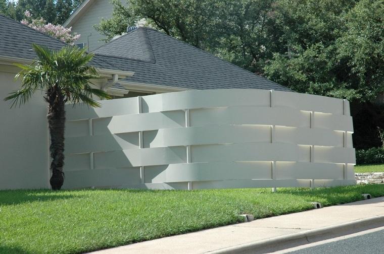 recinzione giardino tipo muretto design moderno