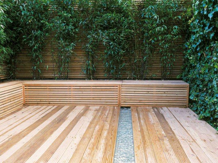 recinzioni giardino legno piante rampicanti