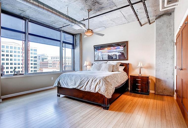 rivestimenti legno metallo alluminio camera da letto