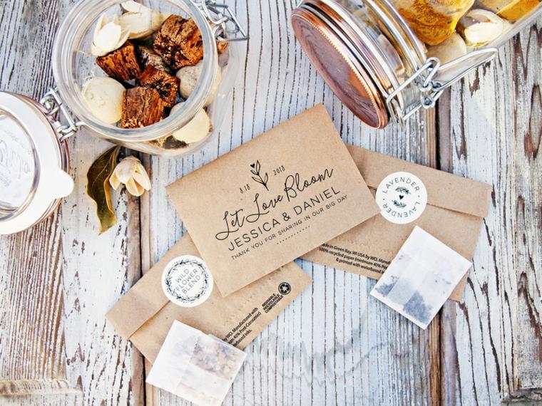 sacchettini di carta personalizzati bomboniere per matrimonio fatte in casa