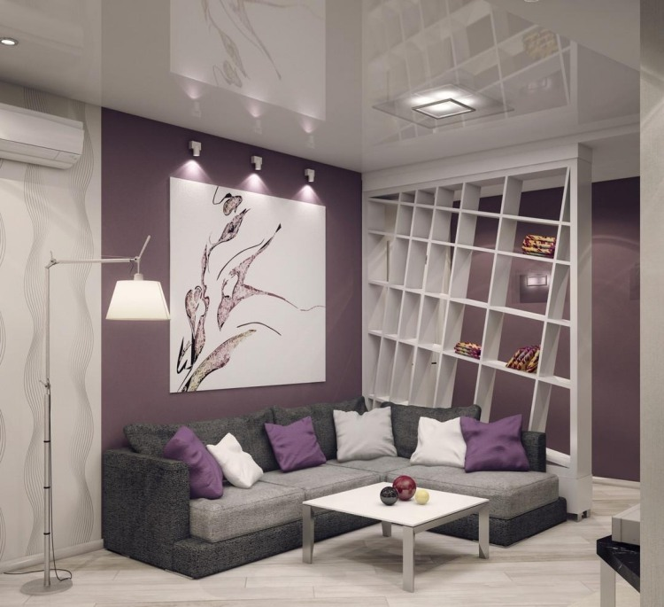 Saloni moderni il gioco delle tonalit calde fredde e for Pareti colori moderni