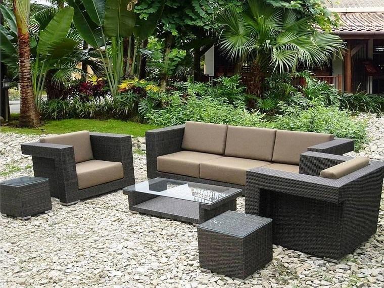 Set da giardino 24 idee comode e di tendenza per arredare for Set giardino rattan