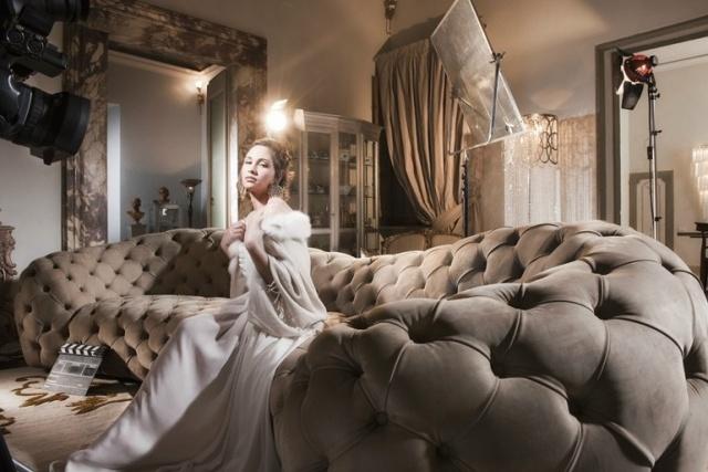 soggiorno moderno lusso divano imbottito