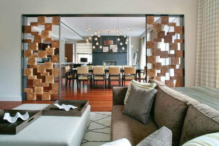 Parete divisoria per un soggiorno alla moda e di design archzine.it