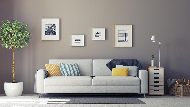 Pareti Grigie Salotto : Arredare salotto in stile moderno con idee e suggerimenti di design