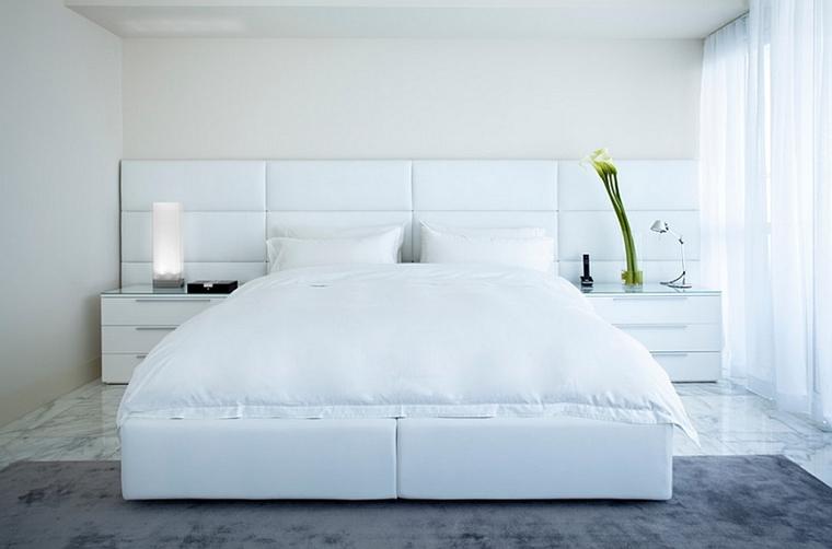 stanza da letto stile minimal testiera letto imbottita