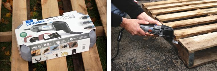 Come costruire un tavolo da giardino con pallet, tagliare il legno da un pallet