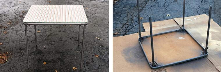Come costruire un tavolo da giardino con pallet, un vecchio tavolo con gambe di metallo