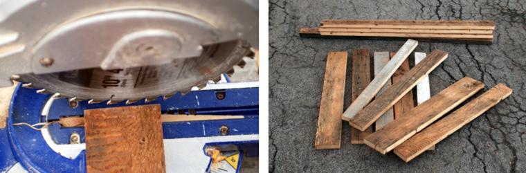 Tagliare i pezzi di legno da un bancale di legno, come costruire un tavolo da giardino con pallet