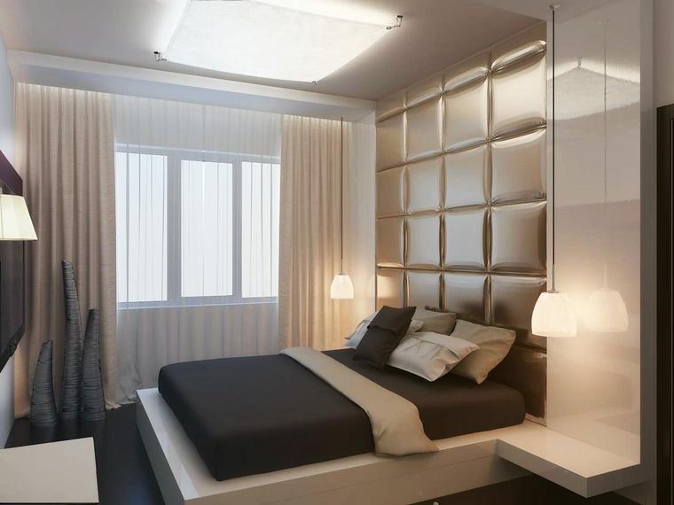 stile moderno letto originale comodino integrato