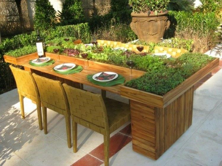 Costruire Un Tavolo Da Esterno.Tavoli Da Giardino Suggerimenti Originali In Pallet Riciclati