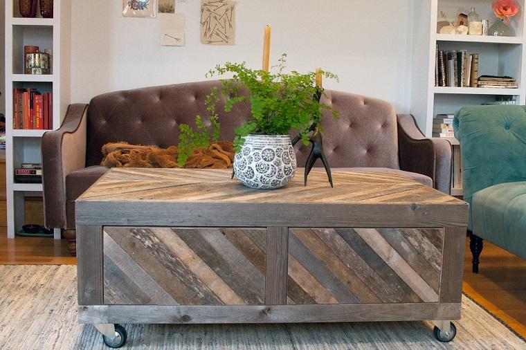 tavolino design rustico arredare soggiorno