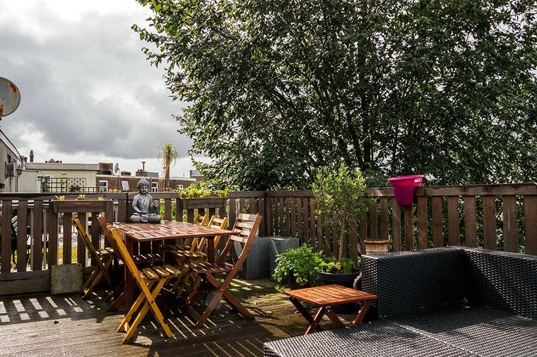 terrazzi arredati set legno rattan