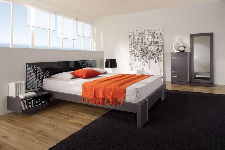 testata letto nera glossy varie decorazioni