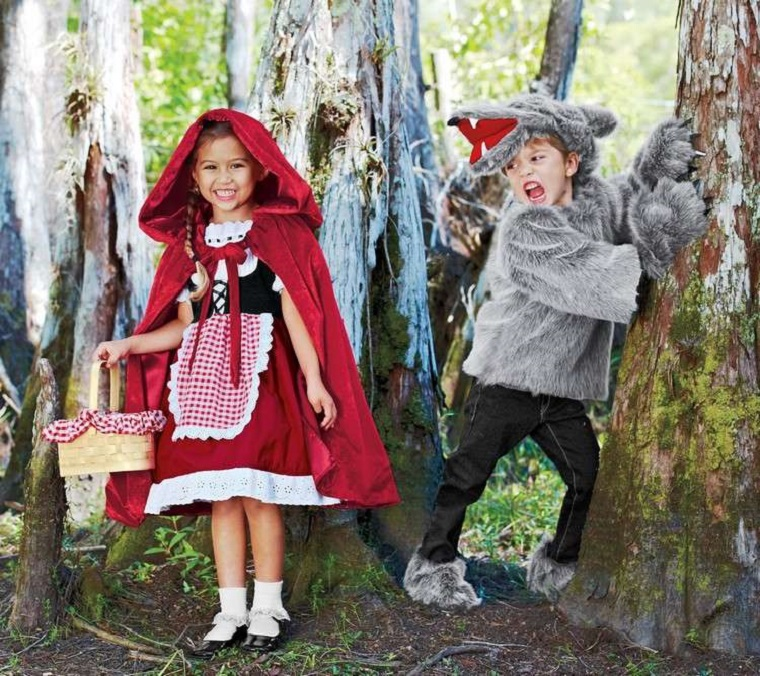 travestimento bambini cappuccetto rosso lupo cattivo