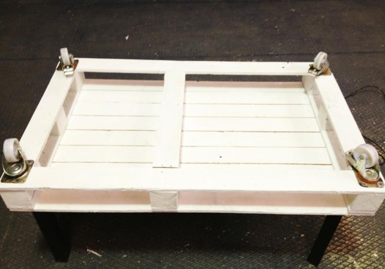 Tavolo con pallet, tavolino di pallet bianco con ruote, tutorial tavolo di pallet