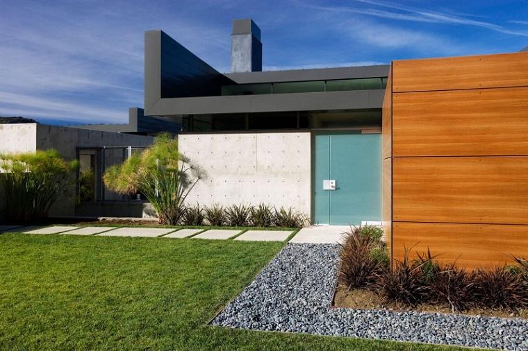 Vialetto Giardino Grande Casa Moderna