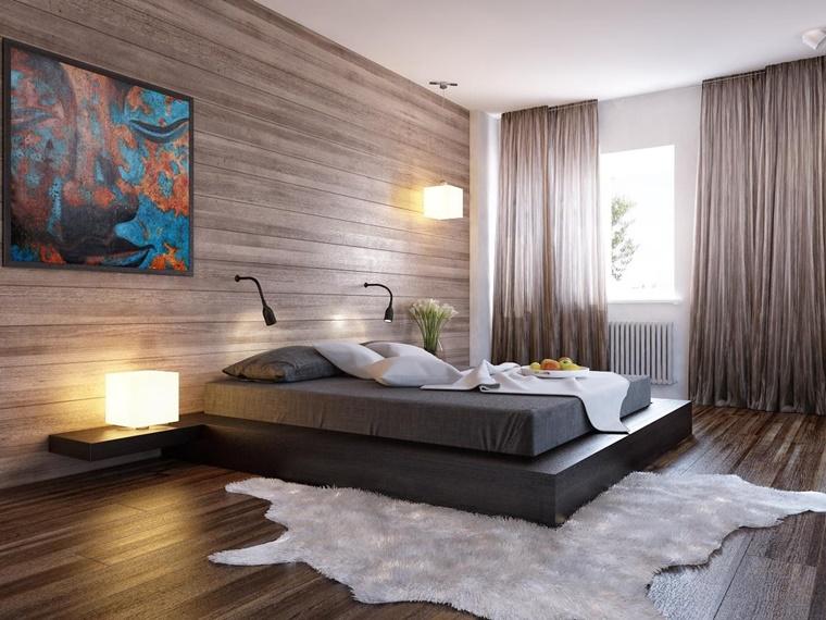 zona notte parete pavimento legno