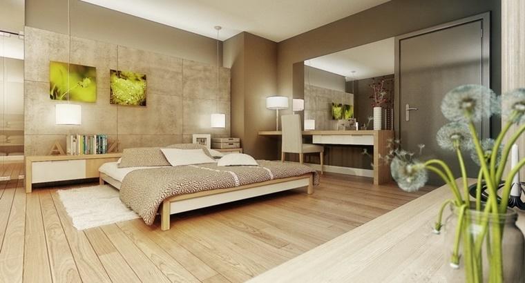 zona notte pavimento legno colori chiari