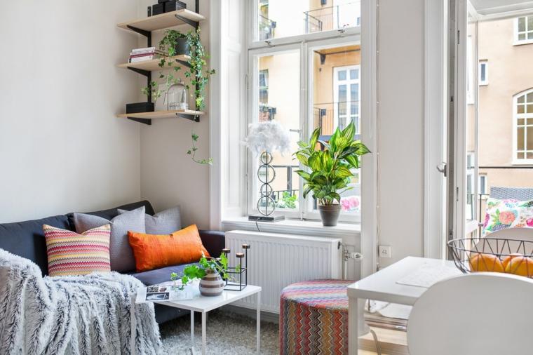 appartamento piccolo come arredarlo monolocale con salotto tavolo da pranzo bianco