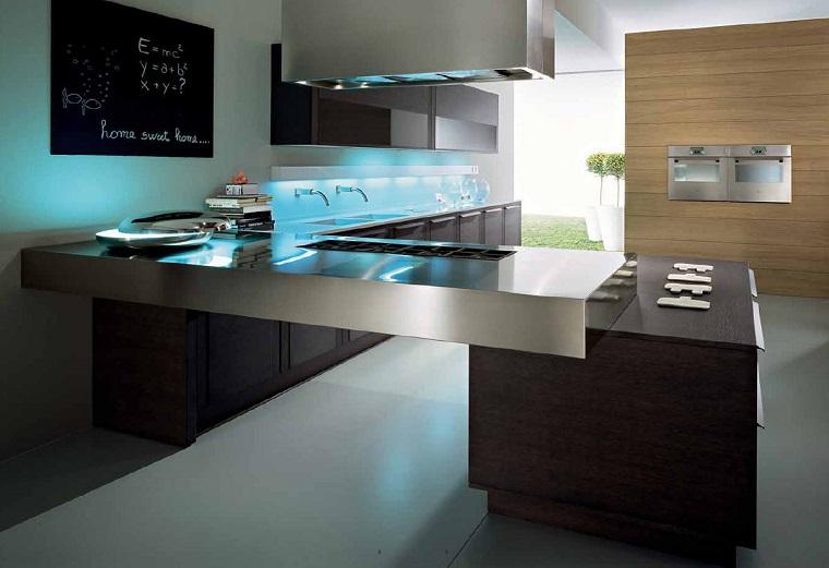 arredamento casa cucina isola elettrodomestici acciaio inox