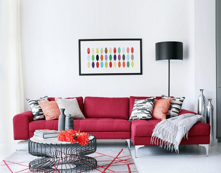 Divano Rosso E Nero : Salotti e divani in offerta nel altamura