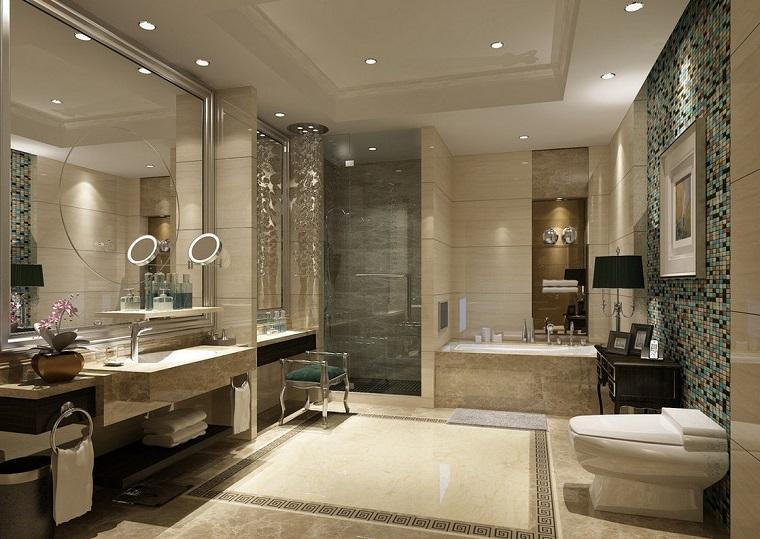 arredamento classico moderno bagno parete bisazza