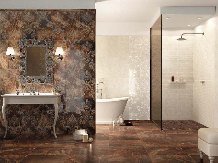 arredamento classico moderno bagno parete pavimento particolari