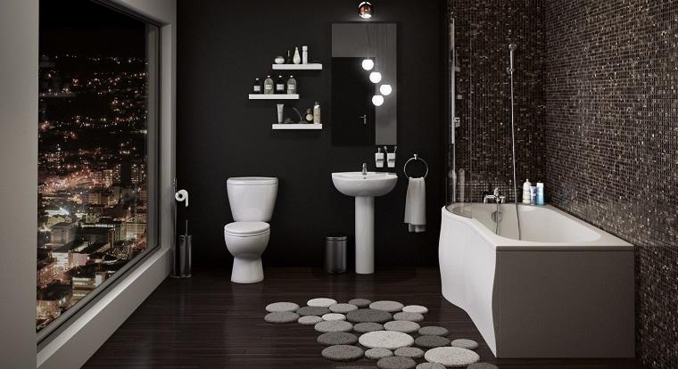 arredamento contemporaneo bagno parete bisazza