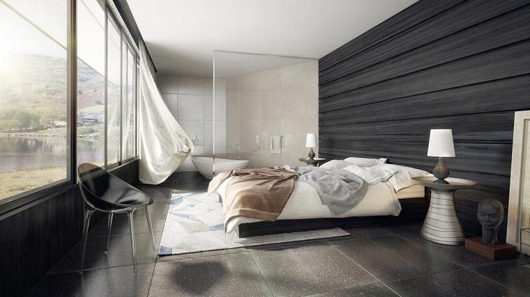 arredamento contemporaneo camera letto parete decorazioni design