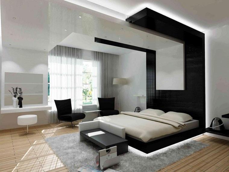arredamento contemporaneo camero letto testata design