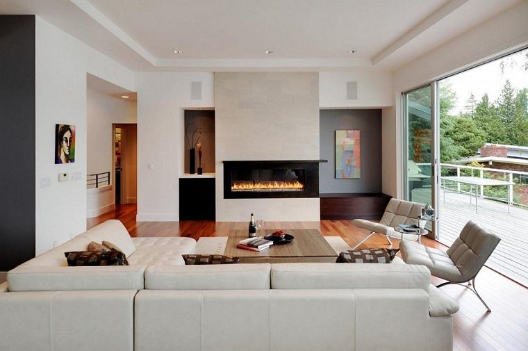Stile contemporaneo 24 idee di arredamento per la casa for Living con camino