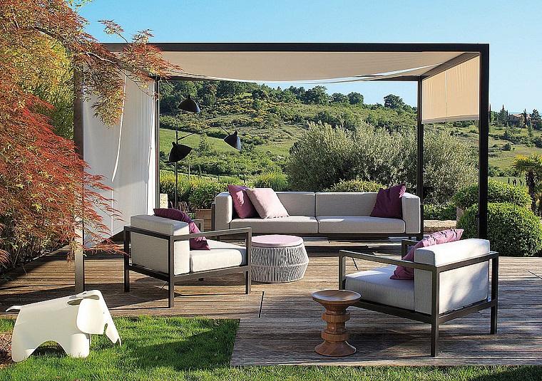 arredamento esterno area relax copertura