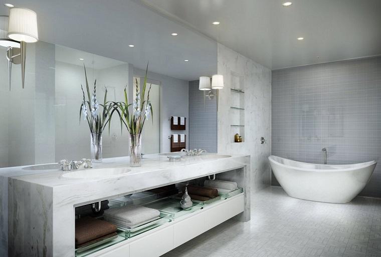 arredamento moderno bagno vasca design