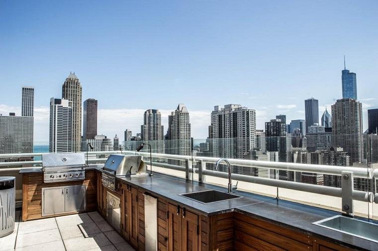 arredamento moderno cucina terrazzo design moderno inserti legno