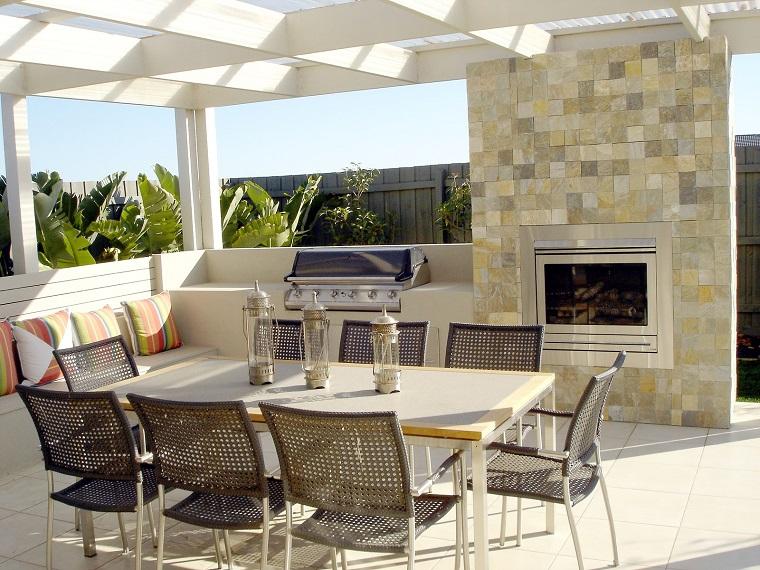 Cucine da esterno soluzioni tecnologiche e dal design - Camino da esterno ...