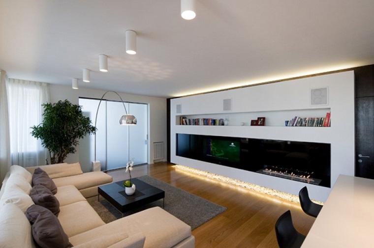 arredamento moderno salotto mobile fondo luminoso