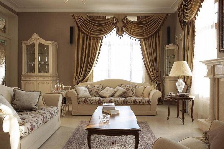 arredamento provenzale esempio soggiorno tonalità beige